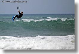 california, coastal views, horizontal, kite surfing, kites, surfing, west coast, western usa, photograph