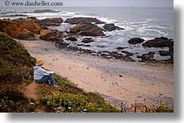 california, cliffs, coastal views, horizontal, jills, people, west coast, western usa, photograph