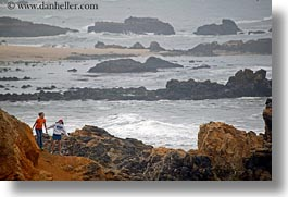 california, childrens, coastal views, horizontal, people, rocks, west coast, western usa, photograph