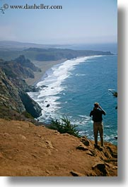 california, coastal views, coastline, men, people, photographing, vertical, west coast, western usa, photograph