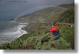 california, coastal views, coastline, horizontal, people, rainbow, west coast, western usa, womens, photograph