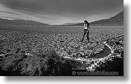 badwater, black and white, california, death valley, horizontal, national parks, west coast, western usa, photograph