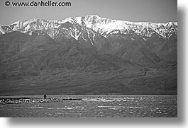 badwater, black and white, california, death valley, floods, horizontal, national parks, west coast, western usa, photograph
