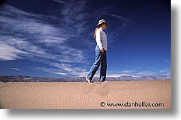 california, death valley, dunes, horizontal, national parks, walk, west coast, western usa, photograph