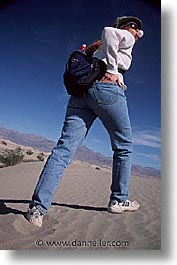 california, death valley, dunes, national parks, vertical, walk, west coast, western usa, photograph