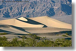 california, death valley, dunes, horizontal, mountains, national parks, west coast, western usa, photograph