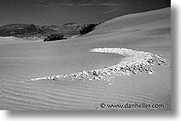 black and white, california, cracks, death valley, dunes, horizontal, national parks, west coast, western usa, photograph