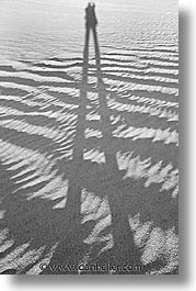black and white, california, death valley, dunes, national parks, sand, shadows, vertical, west coast, western usa, photograph