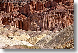 california, canyons, death valley, golden, golden canyon, horizontal, national parks, west coast, western usa, photograph