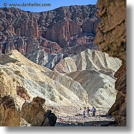 california, canyons, death valley, golden, golden canyon, national parks, square format, walk, west coast, western usa, photograph
