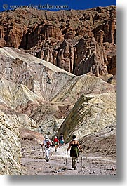 california, canyons, death valley, golden, golden canyon, national parks, vertical, walk, west coast, western usa, photograph