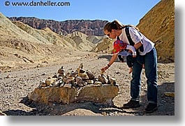california, death valley, golden canyon, horizontal, national parks, piles, rocks, west coast, western usa, photograph
