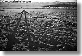 black and white, california, death valley, horizontal, national parks, shadows, west coast, western usa, photograph