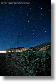 california, death valley, long exposure, national parks, nite, star trails, stars, vertical, west coast, western usa, photograph