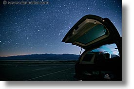 california, cars, death valley, horizontal, long exposure, national parks, nite, star trails, stars, west coast, western usa, photograph