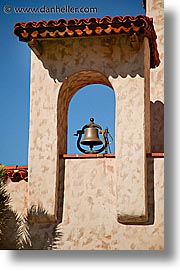 bells, california, castles, death valley, exteriors, national parks, scottys castle, vertical, west coast, western usa, photograph