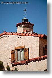 california, death valley, exteriors, national parks, scotty's castle, scottys castle, vane, vertical, weather, west coast, western usa, photograph