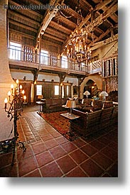 california, death valley, living room, national parks, scotty's castle, scottys castle, vertical, west coast, western usa, photograph