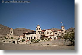 california, castles, death valley, horizontal, main view, national parks, scotty, scotty's castle, scottys castle, west coast, western usa, photograph