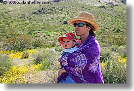 babies, boys, california, childrens, death valley, horizontal, jack and jill, mothers, national parks, people, west coast, western usa, wildflowers, womens, photograph