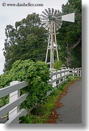california, fences, gorda, ivy, vertical, west coast, western usa, white, windmills, photograph
