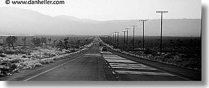 black and white, california, highways, horizontal, panoramic, west coast, western usa, photograph