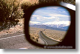 california, highways, horizontal, reflect, roads, west coast, western usa, photograph