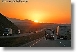 california, highways, horizontal, sunsets, west coast, western usa, photograph