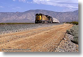 california, highways, horizontal, trains, west coast, western usa, photograph
