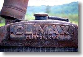 california, climax, horizontal, humboldt, tractor, west coast, western usa, photograph