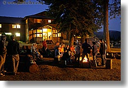 california, campfire, groups, horizontal, kings canyon, nite, people, slow exposure, west coast, western usa, photograph