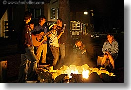 california, campfire, fire, groups, guitars, horizontal, instruments, kings canyon, music, nite, people, slow exposure, west coast, western usa, photograph