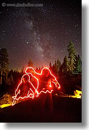 california, flashlight, flashlight painting, galaxy, kings canyon, light streaks, long exposure, milky way, nite, outline, stars, vertical, west coast, western usa, photograph
