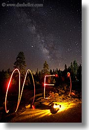 california, flashlight, flashlight painting, galaxy, kings canyon, light streaks, long exposure, milky way, nite, paintings, stars, vertical, west coast, western usa, photograph