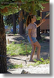 activities, california, jills, kings canyon, people, tightrope, vertical, walk, walking, west coast, western usa, womens, photograph