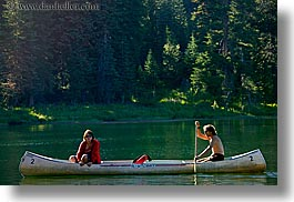 california, canoes, couples, horizontal, kings canyon, lakes, people, west coast, western usa, photograph
