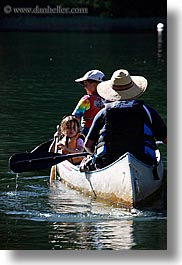 california, canoes, childrens, families, girls, kings canyon, lakes, people, vertical, west coast, western usa, photograph