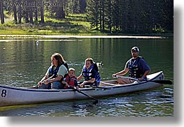 california, canoes, childrens, families, girls, horizontal, kings canyon, lakes, mothers, people, west coast, western usa, womens, photograph