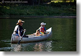 california, canoes, childrens, families, girls, horizontal, kings canyon, lakes, people, west coast, western usa, photograph