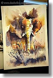 california, elephants, kings canyon, paintings, slow exposure, vertical, watercolors, west coast, western usa, photograph