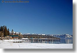 california, dock, horizontal, lake tahoe, lakes, scenics, snow, west coast, western usa, photograph