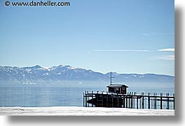 california, dock, horizontal, lake tahoe, mountains, scenics, snow, west coast, western usa, photograph