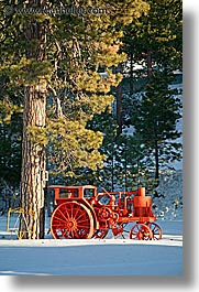 california, lake tahoe, oranges, scenics, tractor, vertical, west coast, western usa, photograph