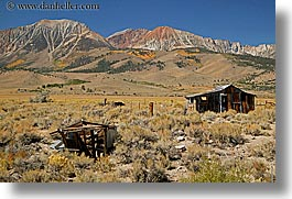 barn, california, horizontal, lee vining, mountains, old, west coast, western usa, photograph