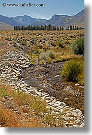 california, lee vining, mountains, stream, vertical, west coast, western usa, photograph