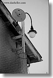 black and white, california, discovery museum, hangings, lamp posts, marin, marin county, north bay, northern california, san francisco bay area, vertical, west coast, western usa, photograph