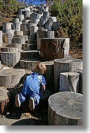 babies, california, climbing, discovery museum, jacks, marin, marin county, north bay, northern california, san francisco bay area, stumps, vertical, west coast, western usa, photograph