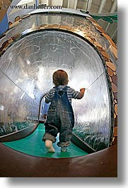 california, discovery museum, fisheye lens, marin, marin county, north bay, northern california, san francisco bay area, toddlers, tunnel, vertical, water, west coast, western usa, photograph