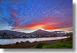 california, clouds, colorful, corte madera, creek, greenbrae, horizontal, marin, marin county, mountains, north bay, northern california, rivers, slow exposure, sunsets, tamalpais, west coast, western usa, photograph