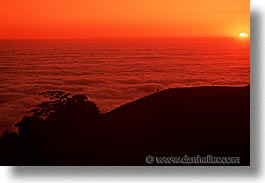 california, headlands, hikers, horizontal, marin, marin county, marin headlands, monterey pine, monts, north bay, northern california, pines, san francisco bay area, sunsets, west coast, western usa, photograph